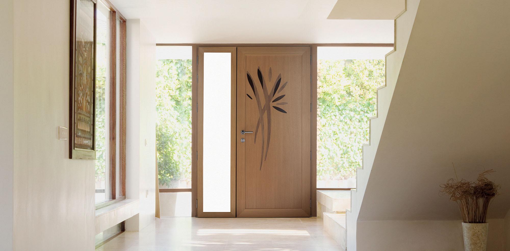 Tringle De Porte Entree la porte d'entrée bois aluminium personnalisable meo, une