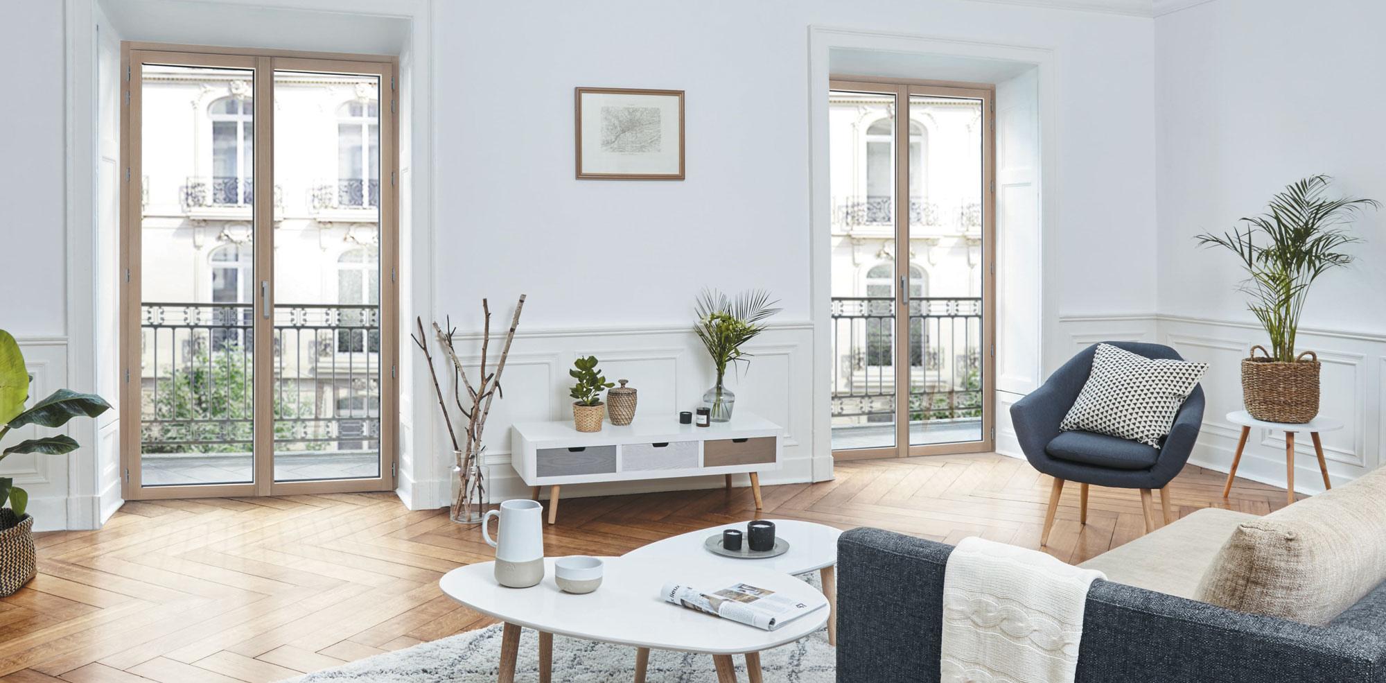 Cuisine Lumineuse Sans Fenetre fenêtre à frappe bois aluminium | meo fabricant de fenêtres